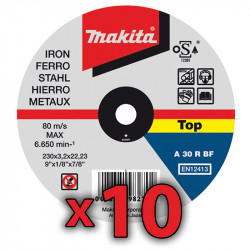 Disco Corte Metal 230x2mm 10 Unidades Accesorios