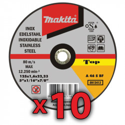 Disco Corte Acero Inoxidable 115x1mm 10 Unidades Amoladora