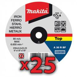 Disco Corte Metal 230x3,2mm 25 Unidades Accesorios
