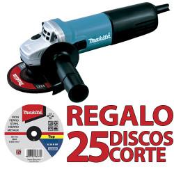 Amoladora 115mm 840W SAR 9557NBR1+ 25 Discos P53001 115 mm