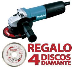 Amoladora 115mm 840W SAR 9557NBR1+ 4 Discos D61189 115 mm