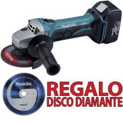 Amoladora 18V 115mm 4.0 Ah DGA452RME + Disco Diamante B-13085 115 mm