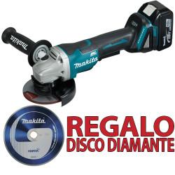 Amoladora BL 18V 5.0Ah 115mm DGA458RTJ + Disco Diamante B13085 115 mm