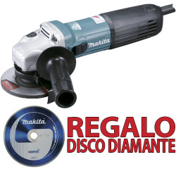 Amoladora 115mm 1.100W SAR GA4540RZ + Disco Diamante B13085 115 mm