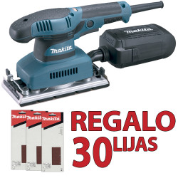 Lijadora Orbital 190W V.Variable 93x185mm BO3711 + Set 30 Lijas Lijadoras Orbitales