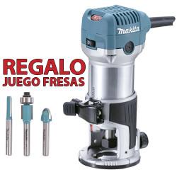 Fresadora Multifunción 710W 35mm RT0700C + Juego Fresas Madera Fresadoras de Superficie