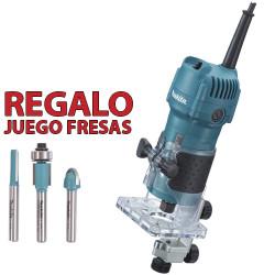 Fresadora Cantos 530W 35mm 3709 + Regalo Juego Fresas Fresadoras de Cantos