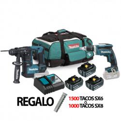Kit Pladur DFS452 + DHR171+ 3 Baterías 4.0Ah + Trolley + Kit Tacos SX Kit recomendados