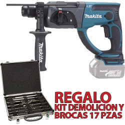 Martillo 3 Modos 20mm 18V 5.0Ah DHR202RTJ MakPac + Regalo Kit Demolición 18V