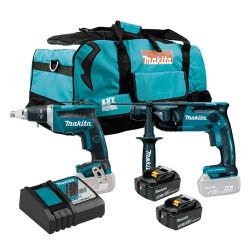 Kit Pladur DFS452 + DHR165+ 2 Baterías 5.0Ah + Trolley Kit recomendados