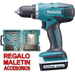 Taladro Combinado 14.4V 30Nm 1,5Ah HP347DWE + Juego Puntas y Brocas 14.4V