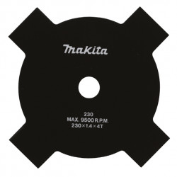 Disco Desbrozadora 4 Puntas C/Accesorios Instalacion 230X25,4 B-14118 Desbrozado