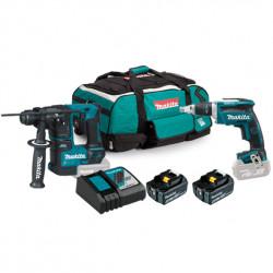Kit Pladur DFS452+ DHR171+ 2 Baterías 5.0Ah + Trolley Kit recomendados