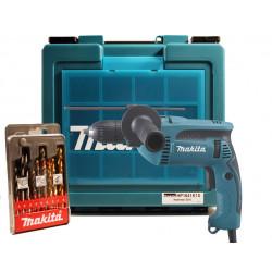 Taladro Percutor 16mm 680W Maletín+Brocas HP1641K1X+Regalo Alicates Taladros Con Percutor